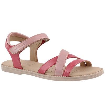 Grls Karly lt coral/rose dress sandal