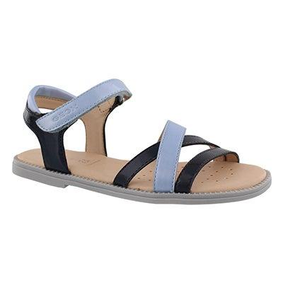 Grls Karly navy dress sandal