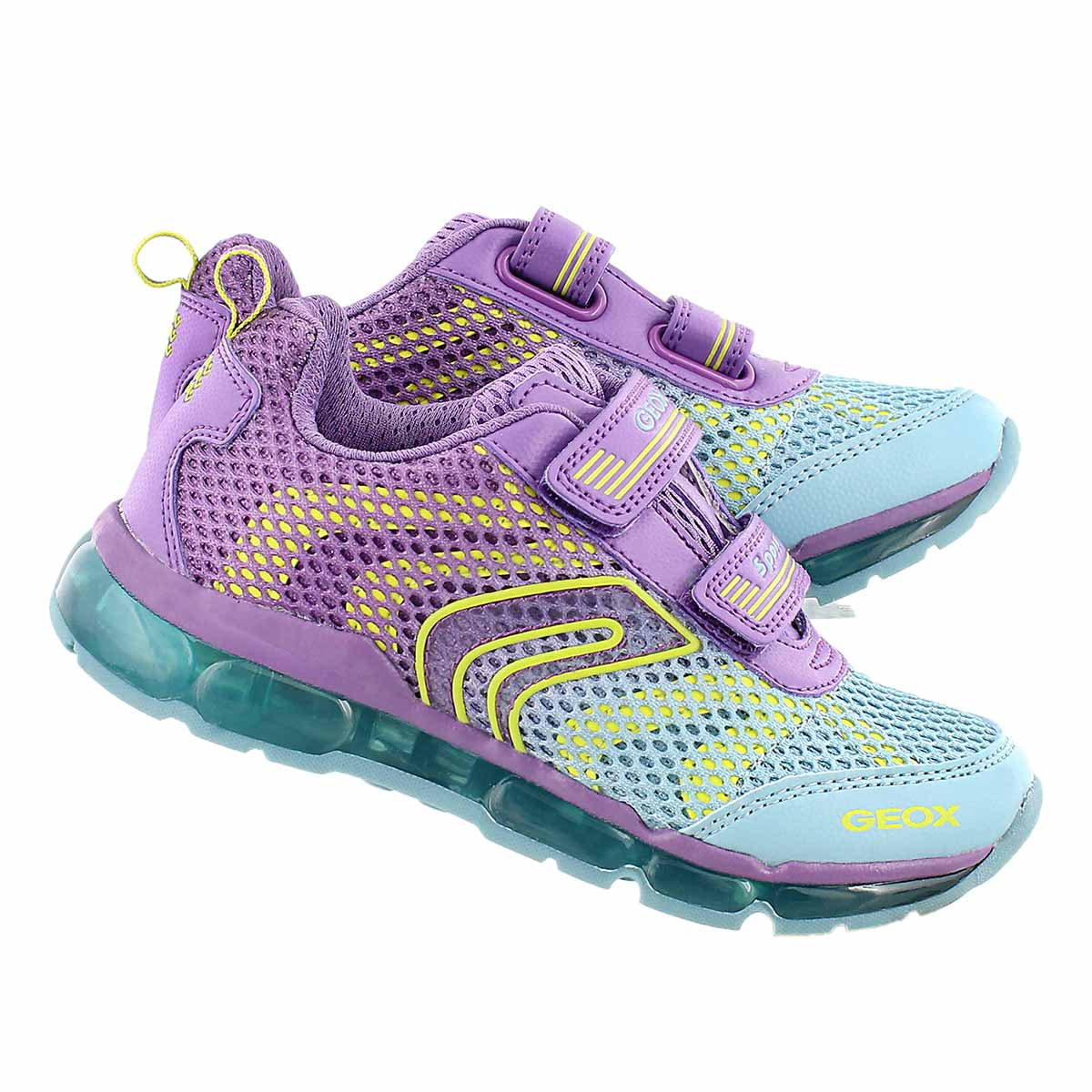 Grls Android purple/sky 2 strap runner