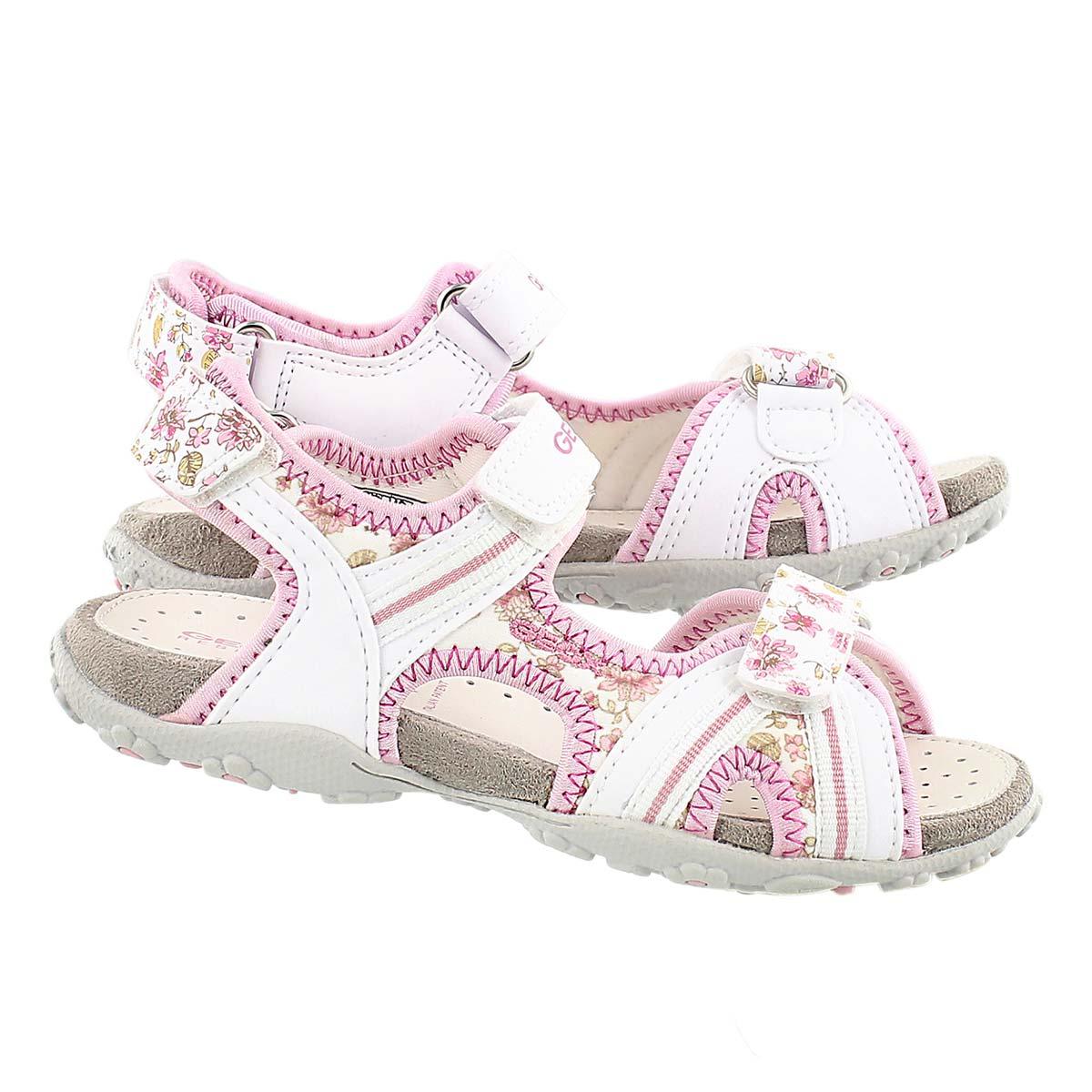 Sandale sport ROXANNE, blanc/rose, fille