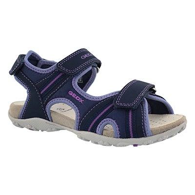 Grls Roxanne navy sport sandal