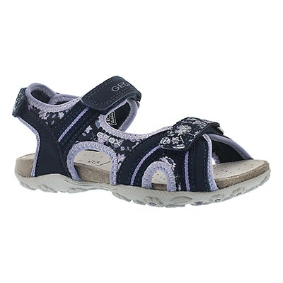 Grls Roxanne navy/lilac sport sandal