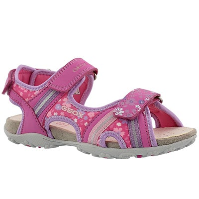 Grls Roxanne fuchsia/lilac sport sandal