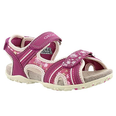 Geox Girls' ROXANNE fuchsia sport sandals