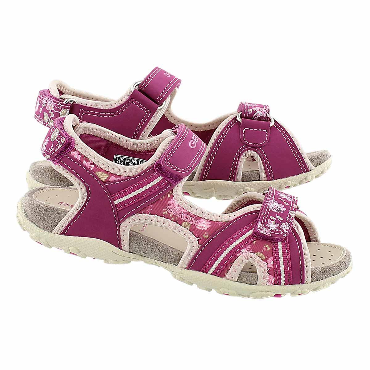 Grls Roxanne fuchsia sport sandal