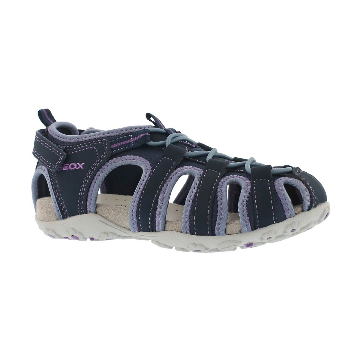 Girls' ROXANNE navy clsoed toe sandals