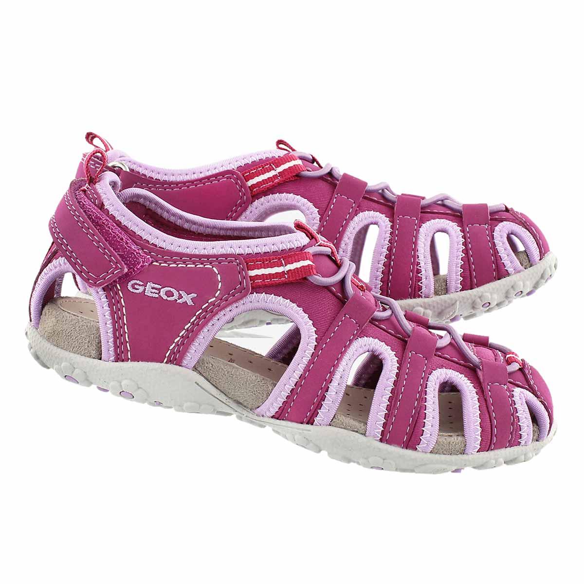 Grls Roxanne fuch/lilac closedtoe sandal