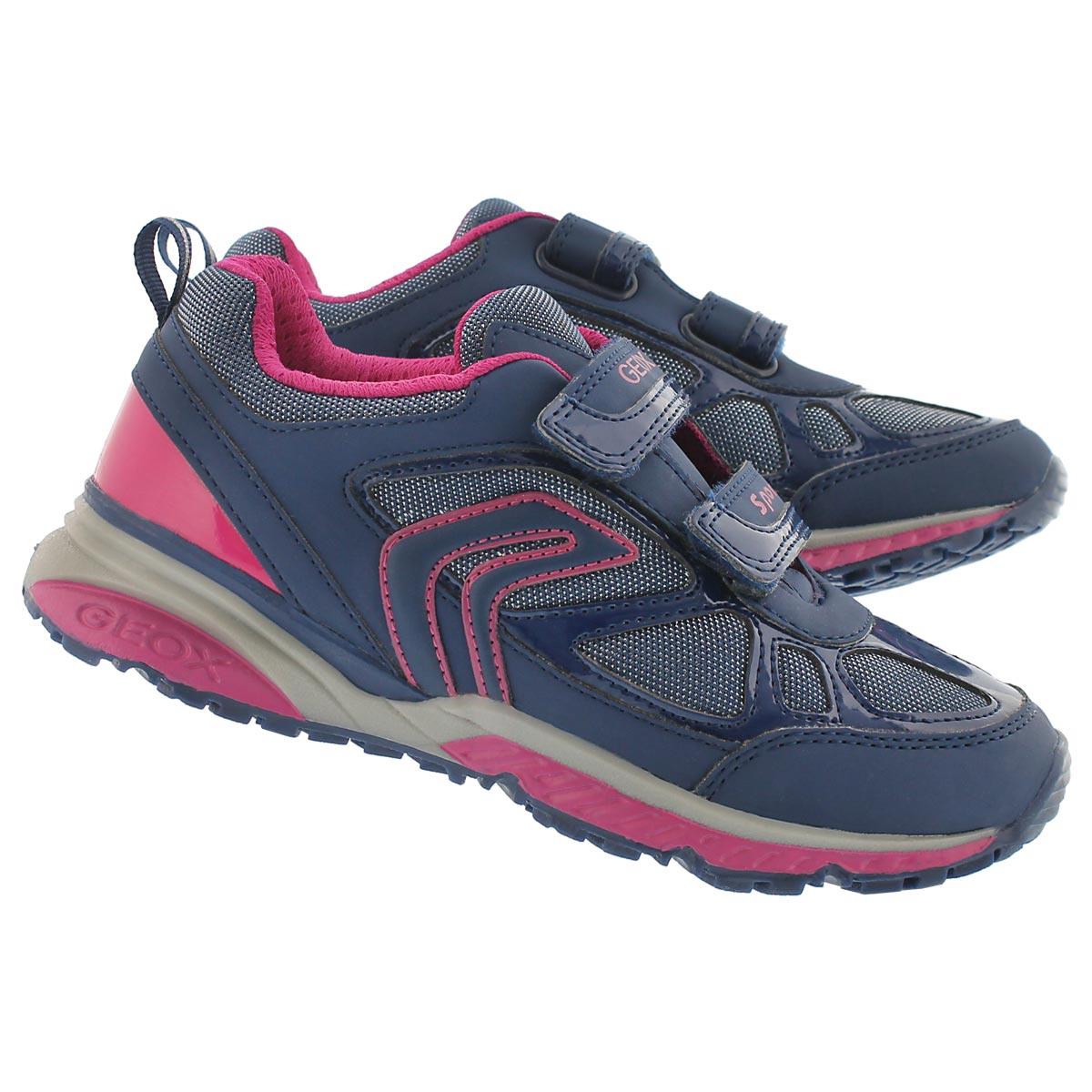 Grls Bernie navy/fuchsia sneaker
