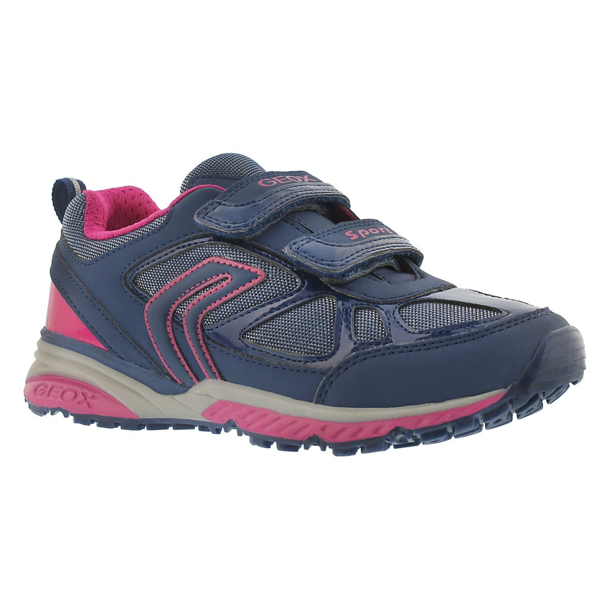 Girls' BERNIE navy/fuchsia sneakers