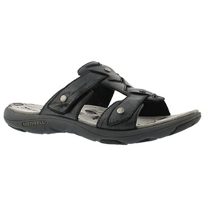 Merrell Women's ADHERA SLIDE black casual slide sandals