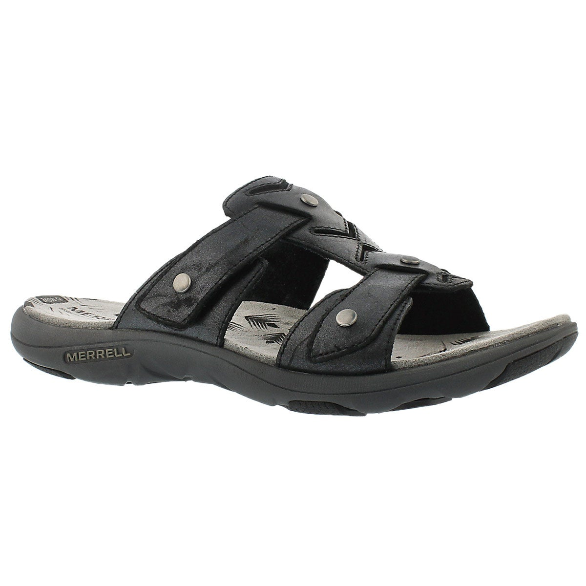 Women's ADHERA SLIDE black casual slide sandals