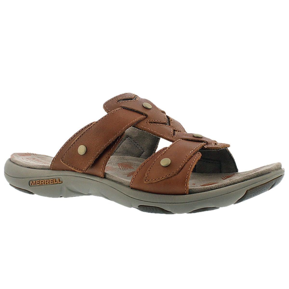 Lds Adhera Slide tan casual slide sandal