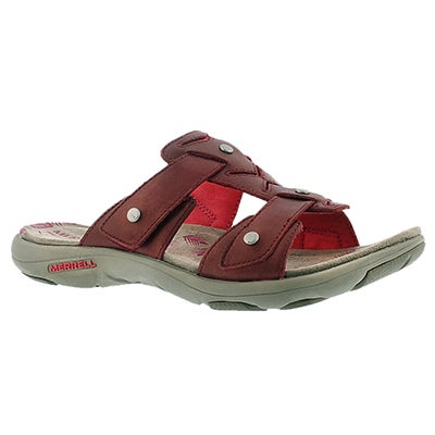 Merrell Women's ADHERA SLIDE red casual slide sandals