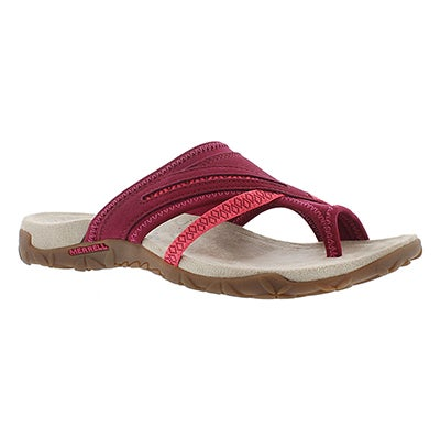 Merrell Women's TERRAN POST II pink toe wrap sandals