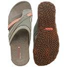 Lds Terran Post II putty toe wrap sandal