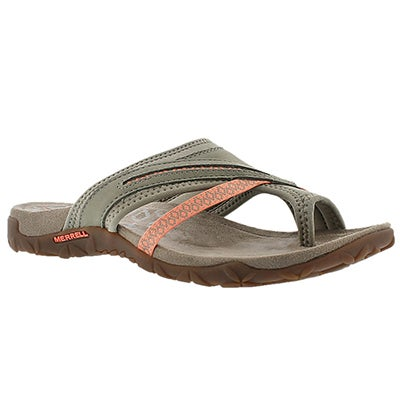 Merrell Women's TERRAN POST II putty toe wrap sandals