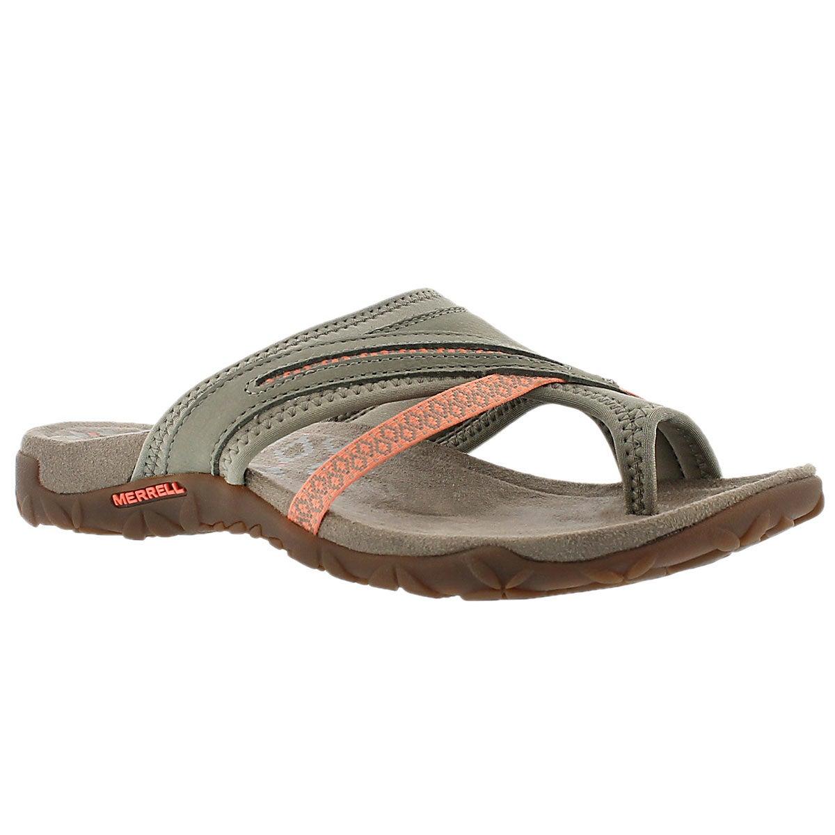 Women's TERRAN POST II putty toe wrap sandals