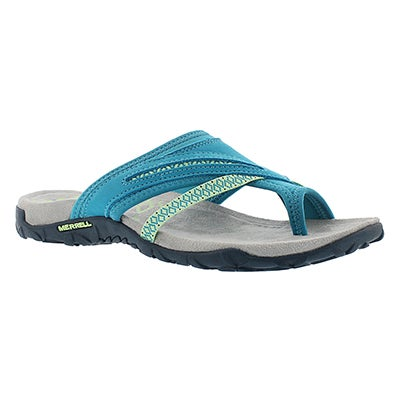 Merrell Women's TERRAN POST II teal toe wrap sandals