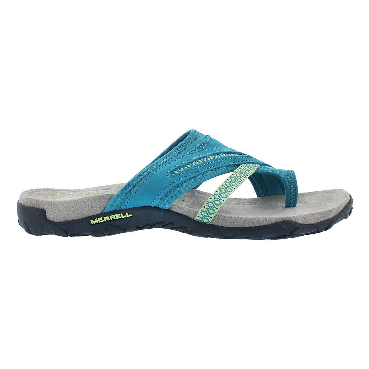 Lds Terran Post II teal toe wrap sandal