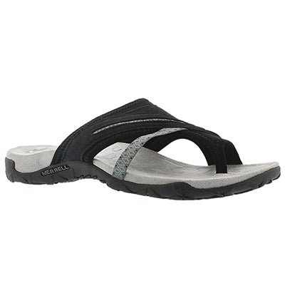 Lds Terran Post II black toe wrap sandal