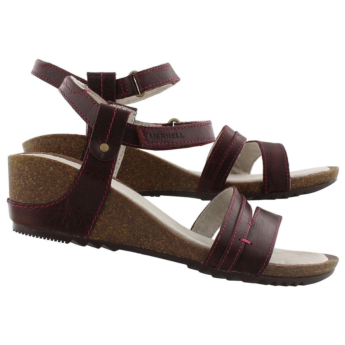 Lds Revalli Aura Strap ppl wedge sandal
