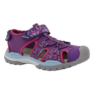 Grls Borealis purple fisherman sandal