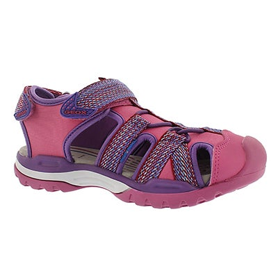 Geox Girls' BOREALIS fuchsia fisherman sandals