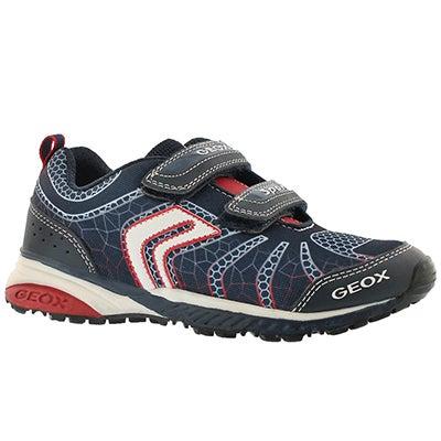 Bys Bernie navy/red 2-strap sneaker