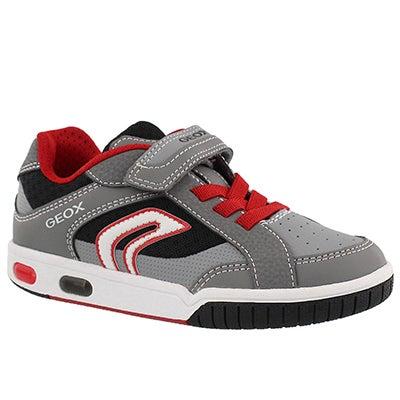 Bys Gregg grey/red sneaker
