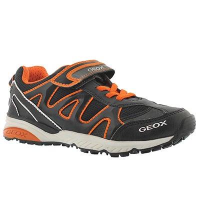 Geox Boys' BERNIE black/orange sneakers