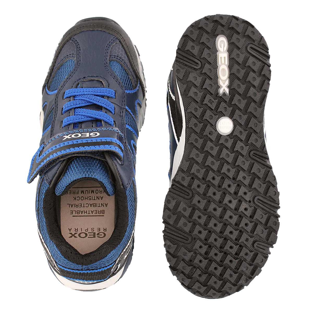 Bys Bernie nvy/royal 2 strap sneaker