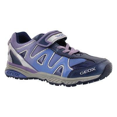 Geox Girls' BERNIE navy/lilac sneakers