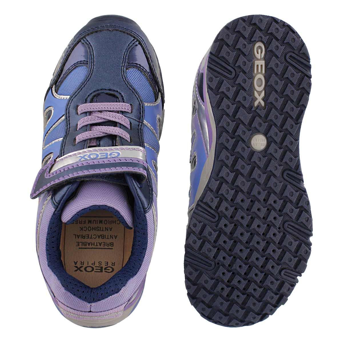 Grls Bernie navy/lilac sneaker