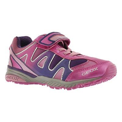 Geox Girls' BERNIE fuchsia/violet sneakers