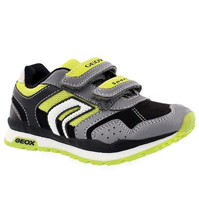 Bys Pavel grey/lime 2-strap sneaker