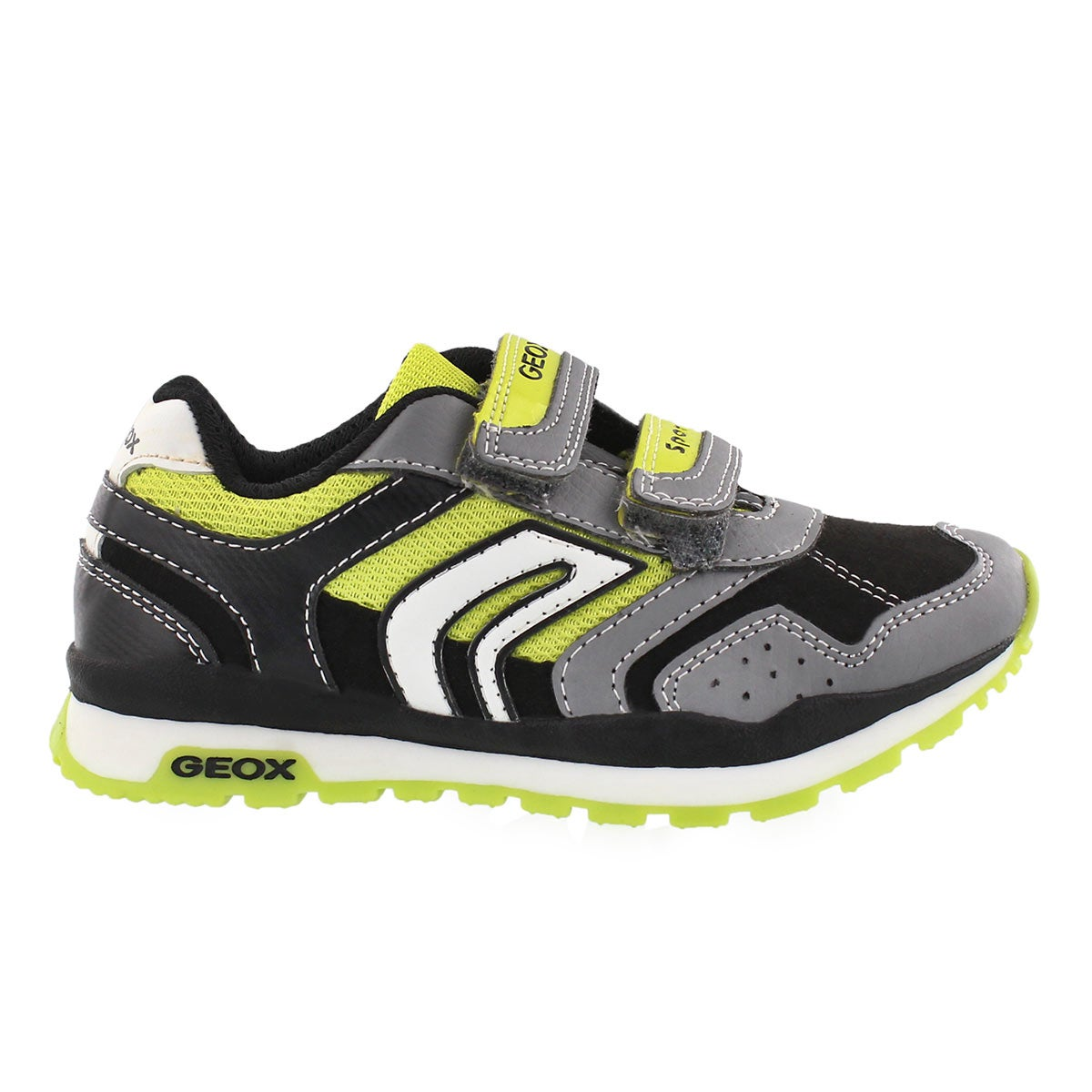 Bys Pavel grey/lime 2-strap sneaker
