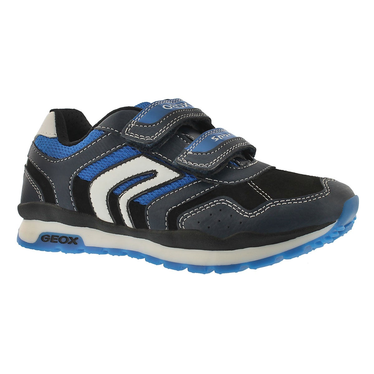 Boys' PAVEL navy hook & loop sneakers