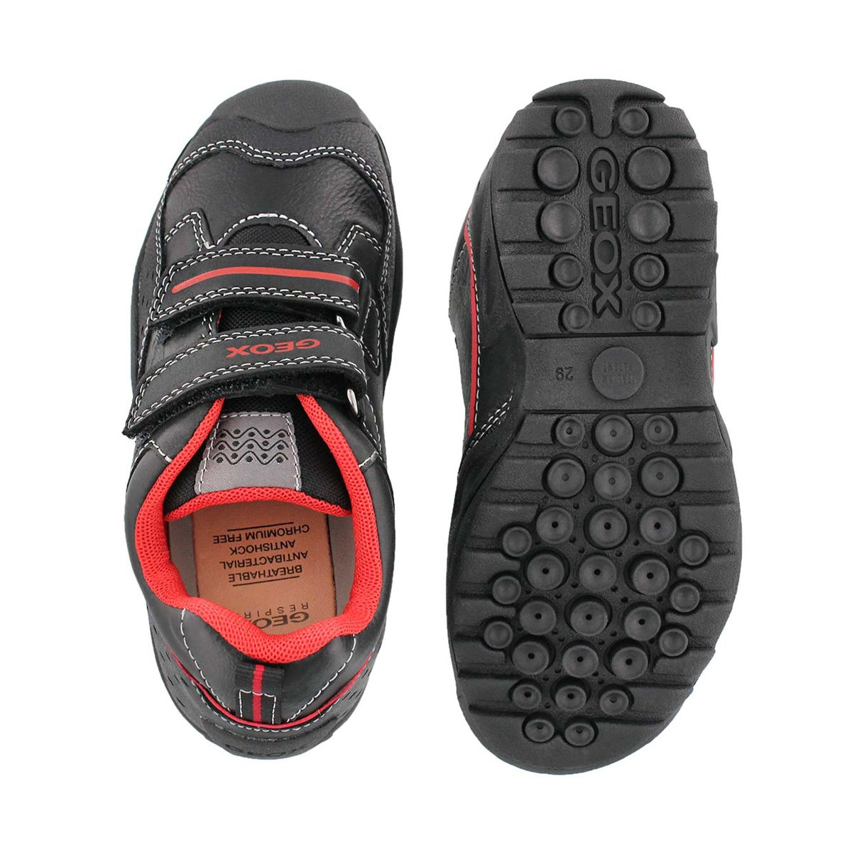 Bys New Savage blk/red 2 strap sneaker