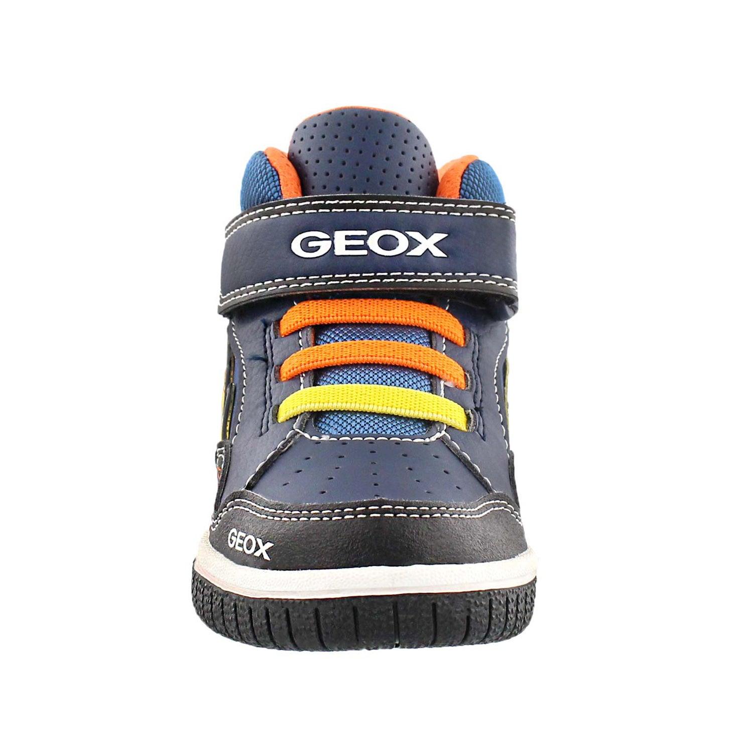 Bys Gregg nvy/orange hi-top sneaker