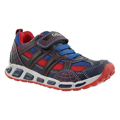 Geox Boys' SHUTTLE BOY navy/red sneakers