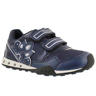 Geox Girls' NEW JOCKER navy 2-strap sneakers