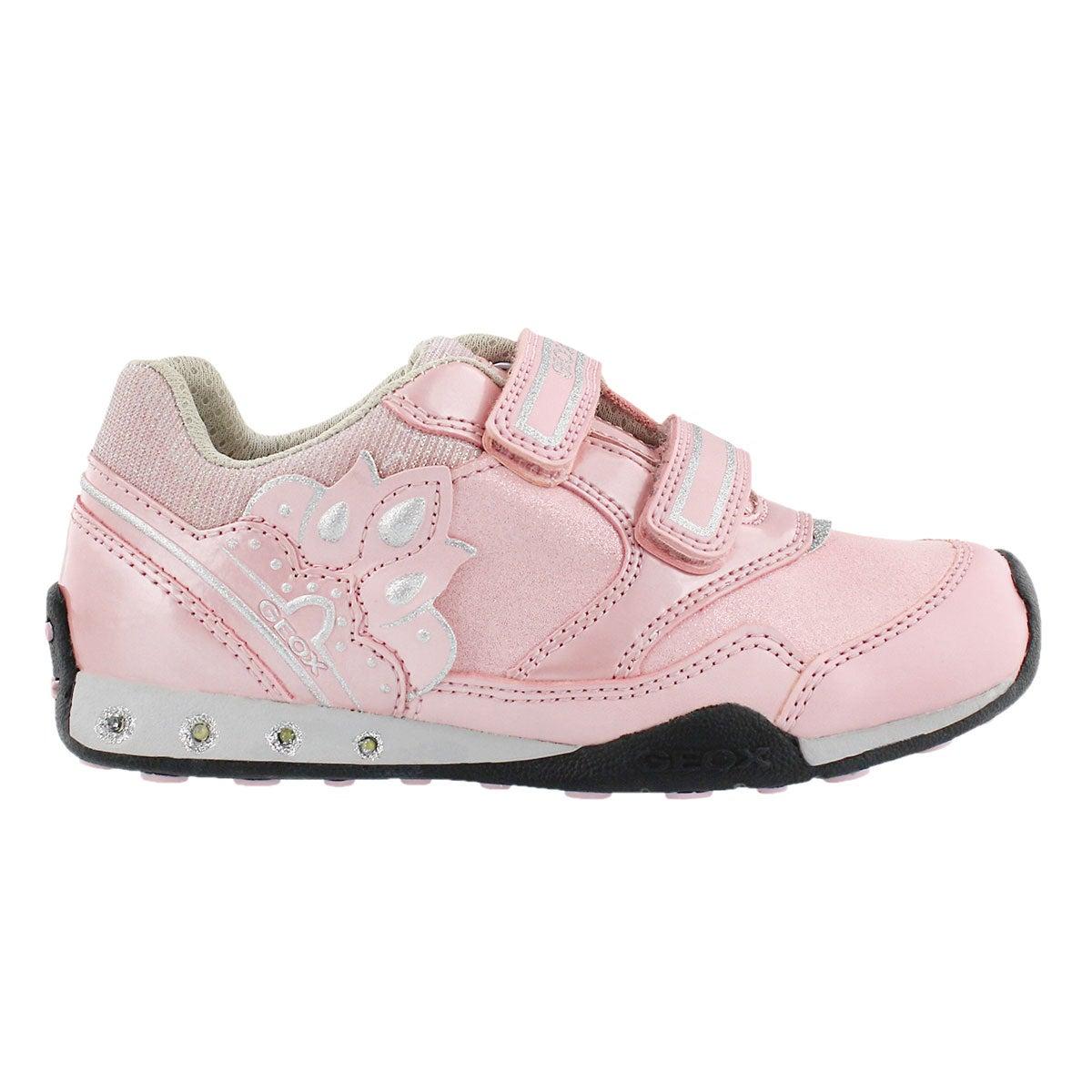 Grls New Jocker pink 2-strap sneaker