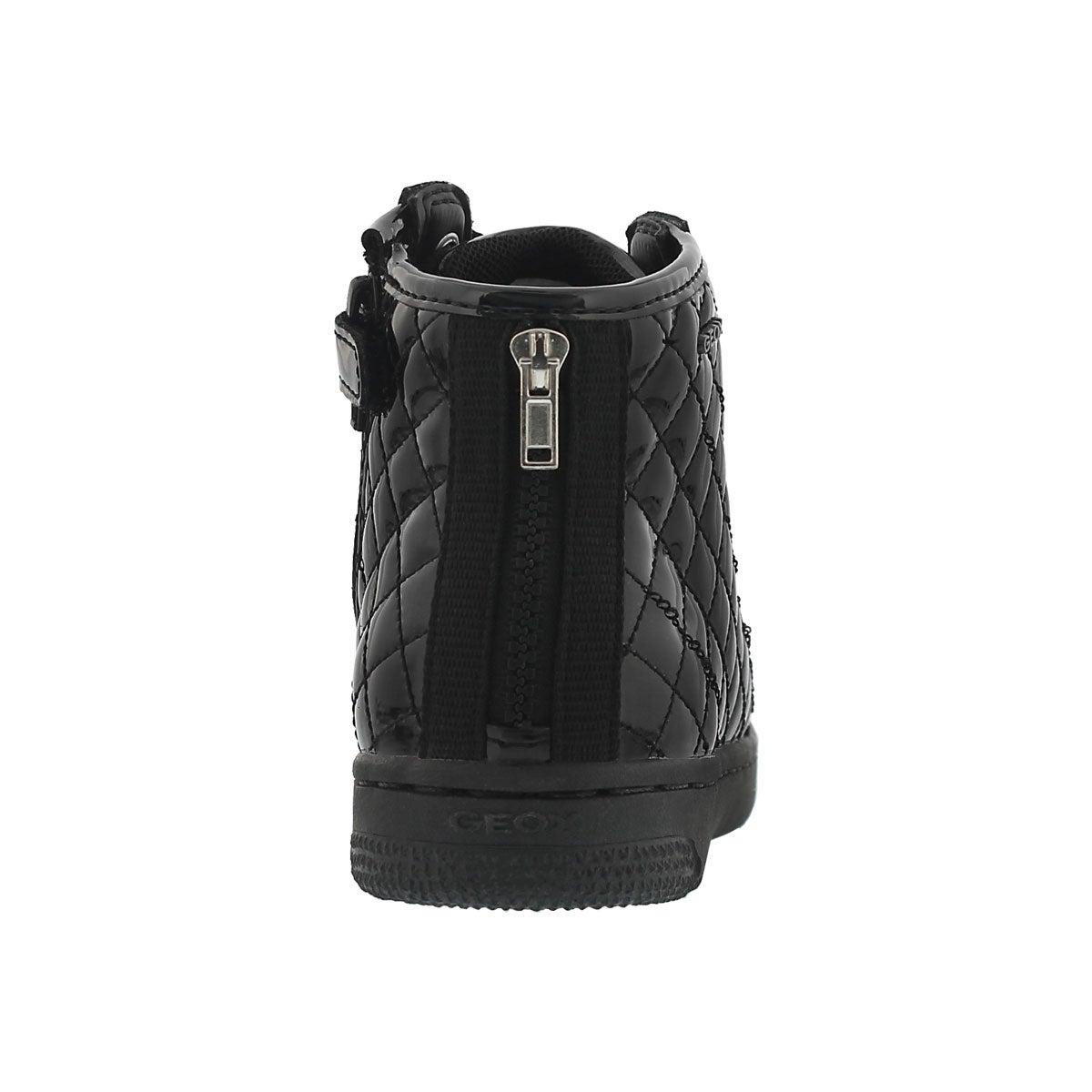 Grls Creamy black high top sneaker