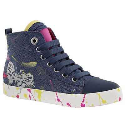 Grls Ciak denim high top sneaker