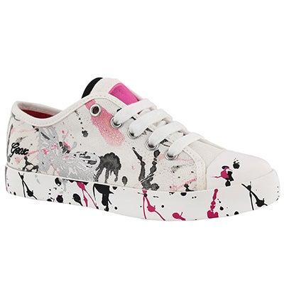 Grls Ciak white/fuchsia sneaker