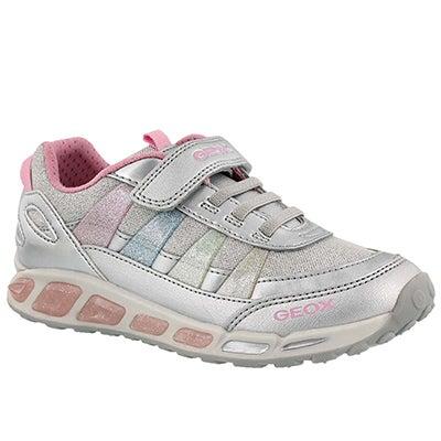 Grls Shuttle silver/multi running shoe