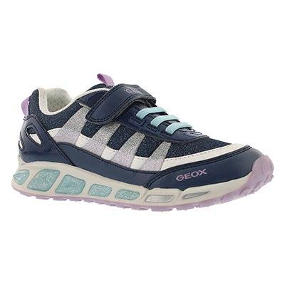 Grls Shuttle navy/lilac running shoe