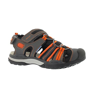 Bys Borealis blk/orange closedtoe sandal