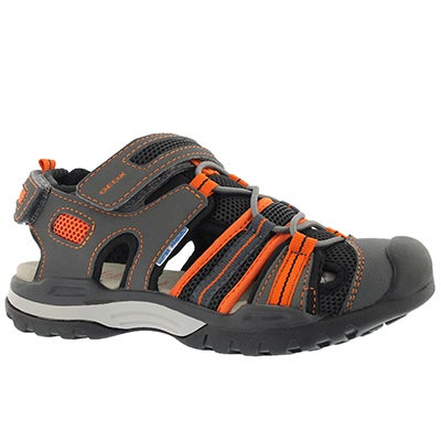 Bys Borealis blk/orange closedtoe sandal