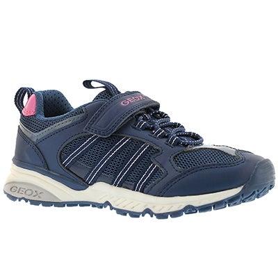 Grls Bernie navy running shoe